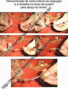 Vou ensinar um jeito fácil de fazer seu próprio lenço de quadril.     Material     - Tecido: musseline lisa ou estampada : de 30 a 40 centím...