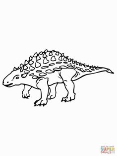 ankylosaurus coloring page