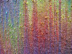 Painted Warp Plain Weave Scarf, cotton & rayon, 2015 (close-up) Loom Knitting Patterns, Weaving Patterns, Stitch Patterns, Knitting Tutorials, Free Knitting, Loom Weaving, Hand Weaving, Painted Warp, Spinning Yarn
