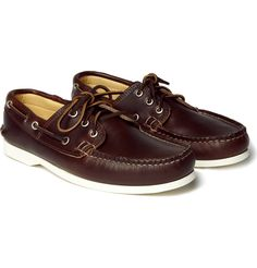 Classic leather boat shoe