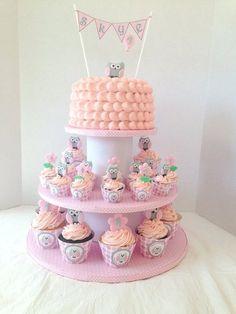 Owl Cakes & Cupcakes tower