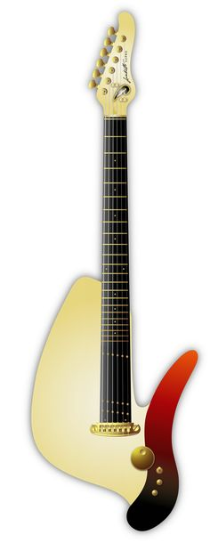 "Deadly Guitars ""Lambretto Piaggio SUPRO"" 2013 prototype hybrid magnetic/piezo solid body. © bil andersen 2013"