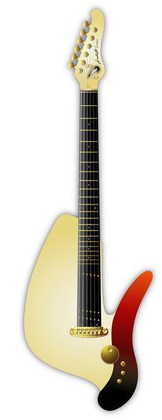 "Deadly Guitars ""Lambretto Piaggio SUPRO"" 2013 prototype hybrid magnetic/piezo solid body. © bil andersen 2013"
