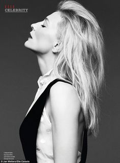 High fashion: Cate Blanchett looks stunning in a stark b&W spread - shot by Jan Welters - as the cover girl for ELLE Canada's January issue