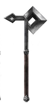 Dwarven axe--Idea for Dwarf Cosplay Tolkien, Medieval Weapons, L5r, Weapon Concept Art, Fantasy Weapons, Knives And Swords, Medieval Fantasy, Blacksmithing, Dungeons And Dragons
