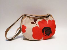 Cross body bag vegan poppy bodybag small faux leather by SKmodell, $58.00