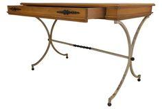 1970s Single-Drawer Desk