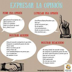 expresar la opinión, acuerdo y desacuerdo.ELE