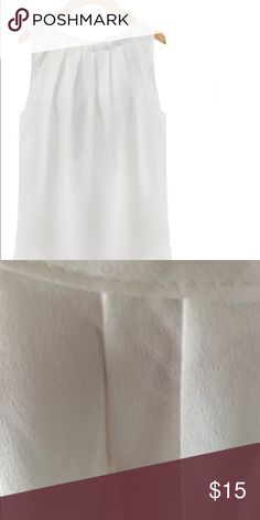 New White Sleeveless Chiffon Blouse New White Chiffon Sleeveless Blouse. I have two new blouses that are between a S/M size Tops Blouses