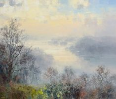 British Artist Rex PRESTON-Early Morning, Windermere