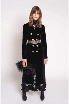 Sonia Rykiel Sonia Rykiel Long Fitted Velvet Coat