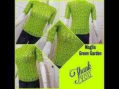 UNCINETTO: MAGLIA GREEN GARDEN - YouTube