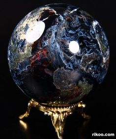 Pietersite Crystal Ball. This is an awesome stone for recalling with past lives and processing past life issues and death experiences to facilitate present life healing. Www.arielhubbard.com