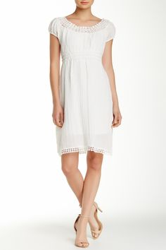 Crocheted Lace Trim Dress by Max Studio on @nordstrom_rack