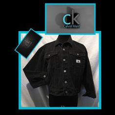 SALECalvin Klein Blk Denim Jacket NWOT Calvin Klein black denim jacket with silver hardware Buttons I just in the back  Amazing condition. No stains holes etc.  Sorry no PayPal trades or holds. Last sale price was $70 and now… Save up to 50% off bundles In both of my Poshmark closets. Thank you for shopping Demitria's Treasures Calvin Klein Jackets & Coats Jean Jackets