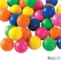 A favorite party favor and a great addition to party supplies, these bouncing balls come in bright neon colors! Use these as giveaways at an event or birthday ...