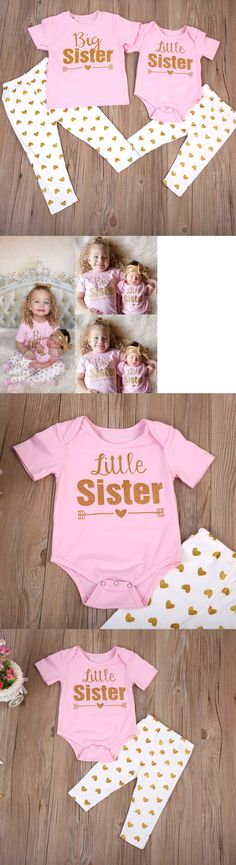 Baby Girls Clothing: Us Stock Newborn Baby Girls Romper T-Shirt Tops +Pants Leggings Outfits Family -> BUY IT NOW ONLY: $6.99 on eBay!