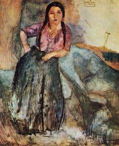 Gypsy Girl by Jules Pascin #art