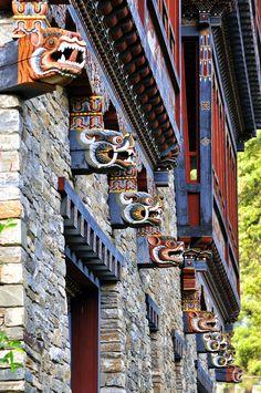 Paro Architecture. Bhutan