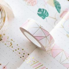Golden Pink Foil Paper Washi Tape Set Japanese Scrapbooking Decorative Tapes Honeycomb For Photo Album Home Decoration Japanese Stationery, Kawaii Stationery, School Stationery, Stationery Store, Washi Tape Set, Masking Tape, Duct Tape, Colored Tape, Foil Paper