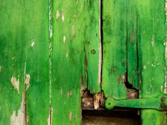 An old green door detail by Lucilineas.