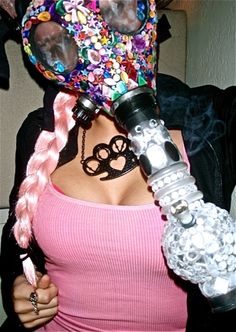 Gas Mask Bong Babes. click for more pictures ( marijuana cannabis )