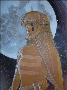 Spacegirl Close-Up   Comic Art