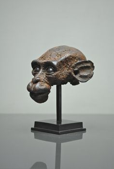 "Quentin Garel, Macaque II, Bronze, 8"" x 6¾""  x 6½"" #art #sculpture #bdgny"