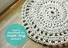 Awesome - crochet using rope and s hook -- looks fairly easy, just never occurred to me to translate it this way - now to just find the time . . .