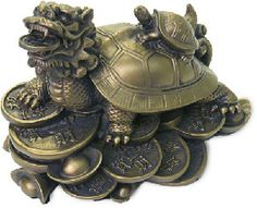 The Dragon Turtle is a symbol of wealth & protection. To use this turtle as a tool for poor health place a blue ribbon in mouth. For a good relationship place a red ribbon in his mouth and for wealth place a gold ribbon.