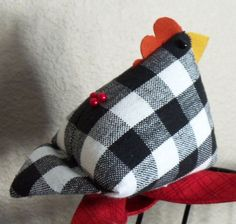 """""""hen picked"""" pincushion. PATTERN @ http://www.quiltscapesquilting.com/resources/Hen%20Party%20Chicks%20Pincushion.pdf MORE @ http://www.quiltscapesqs.com/p/tutorials-small-projects.html"""