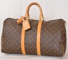 Louis Vuitton Monogram Keepall 45 Luggage Travel Bag Authentic