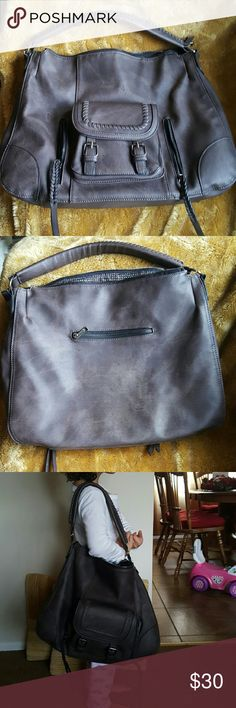 Large vegan leather bag Excellent condition. Huge brown. Vegan leather. No rips or stains (it might appear like that on second picture but it is just reflection). Bags Shoulder Bags