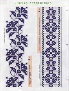 un solo color Cross Stitch Bookmarks, Cross Stitch Borders, Cross Stitch Flowers, Cross Stitch Charts, Cross Stitch Designs, Cross Stitching, Cross Stitch Embroidery, Cross Stitch Patterns, Embroidery Patterns Free