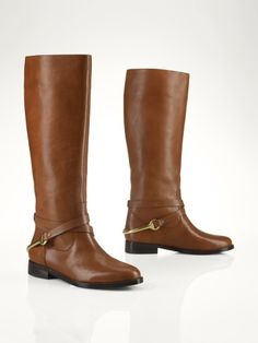 Vachetta Stirrup Riding Boot - Lauren Lauren Shoes - RalphLauren.com