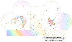 Unicorn and Rainbow: Free Printable Boxes.
