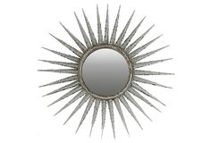 Metal Frame Sunburst/Starburst Home Décor Mirrors Sun Mirror, Starburst Mirror, Home Decor Mirrors, Wall Decor, Wall Mounted Mirror, Metal Mirror, Wall Mirrors, High Fashion Home, Round Mirrors