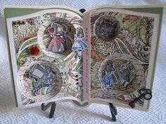 Alice in Wonderland - altered book