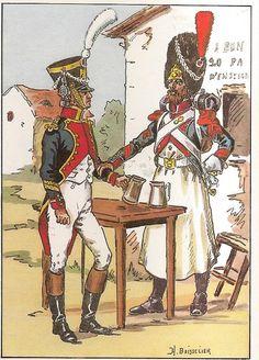 French; 18th Line Infantry, Chef de Musique & Sapper Corporal, 1809