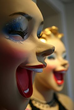 Laughing Mannequins. I think this is one of the scariest things I've ever seen.