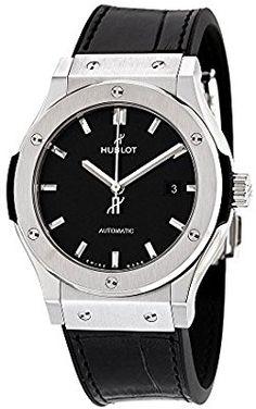 Hublot clásico fusión Automático Negro Dial Titanio Mens Reloj 542nx1171lr