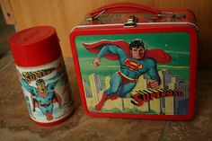 Vintage Annie Metal Lunch Box With Thermos, Show Tune Lunch Box, Collect Metal Lunch Box, Girl's Bedroom Vintage Superman Metal Lunch Box With Thermos 1978 Super Vintage Lunch Boxes, Vintage Menu, Retro Vintage, Retro Toys, Vintage Toys, Lunch Box Thermos, Primitive Living Room, School Lunch Box, Metal Lunch Box