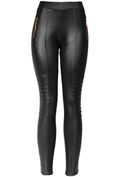 KMystic Sexy Faux Leather Designs Leggings SmallMedium Biker ** Click image to review more details.