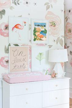 Touring Monika Hibbs's Oh-So Sweet Blush Pink Nursery - Baby Nursery Today Nursery Themes, Nursery Room, Girl Nursery, Girl Room, Girls Bedroom, Nursery Decor, Nursery Dresser, Baby Decor, Nursery Ideas