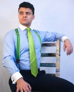 Mens Braces, Braces Suspenders, Contrast Collar, Suit And Tie, Mens Suits, Collars, Mens Fashion, People, Shirt