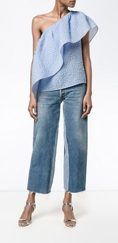 ROSIE ASSOULIN asymmetric one shoulder top, explore The One top for you this season at Farfetch.
