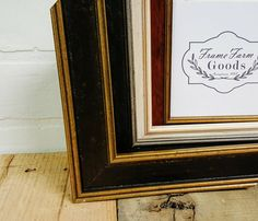 Classic Wood Picture Frame WhiteCherry by TheFrameFarm on Etsy