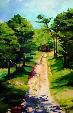 Oil Landscape- Nantucket Path    MeredithHansonArt.com