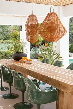 Stylish outdoor dining