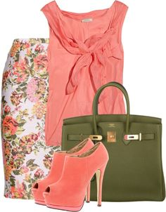"""Floral Skirt"" by maggie-jackson-carvalho on Polyvore"